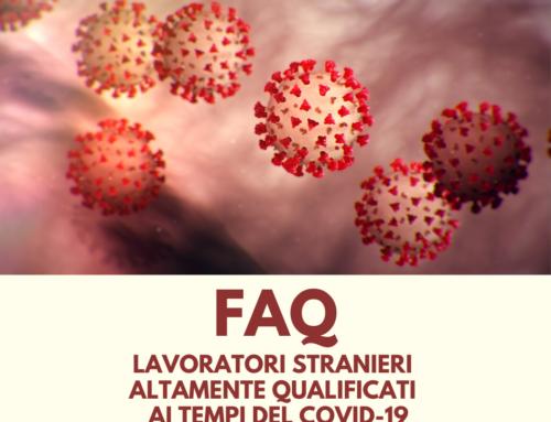 FAQ – lavoratori stranieri in Italia al tempo del COVID-19